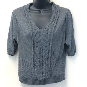 MOTH Short Sleeve Gray Sweater